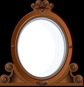 antique mirror, ghost, Pixabay image